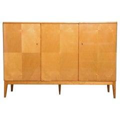 Belgium Designed Satinwood High Sideboard, 1950s