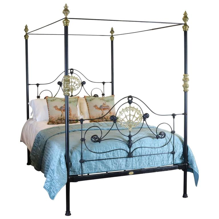 Cast Iron Four Poster Bed M4p13 At 1stdibs
