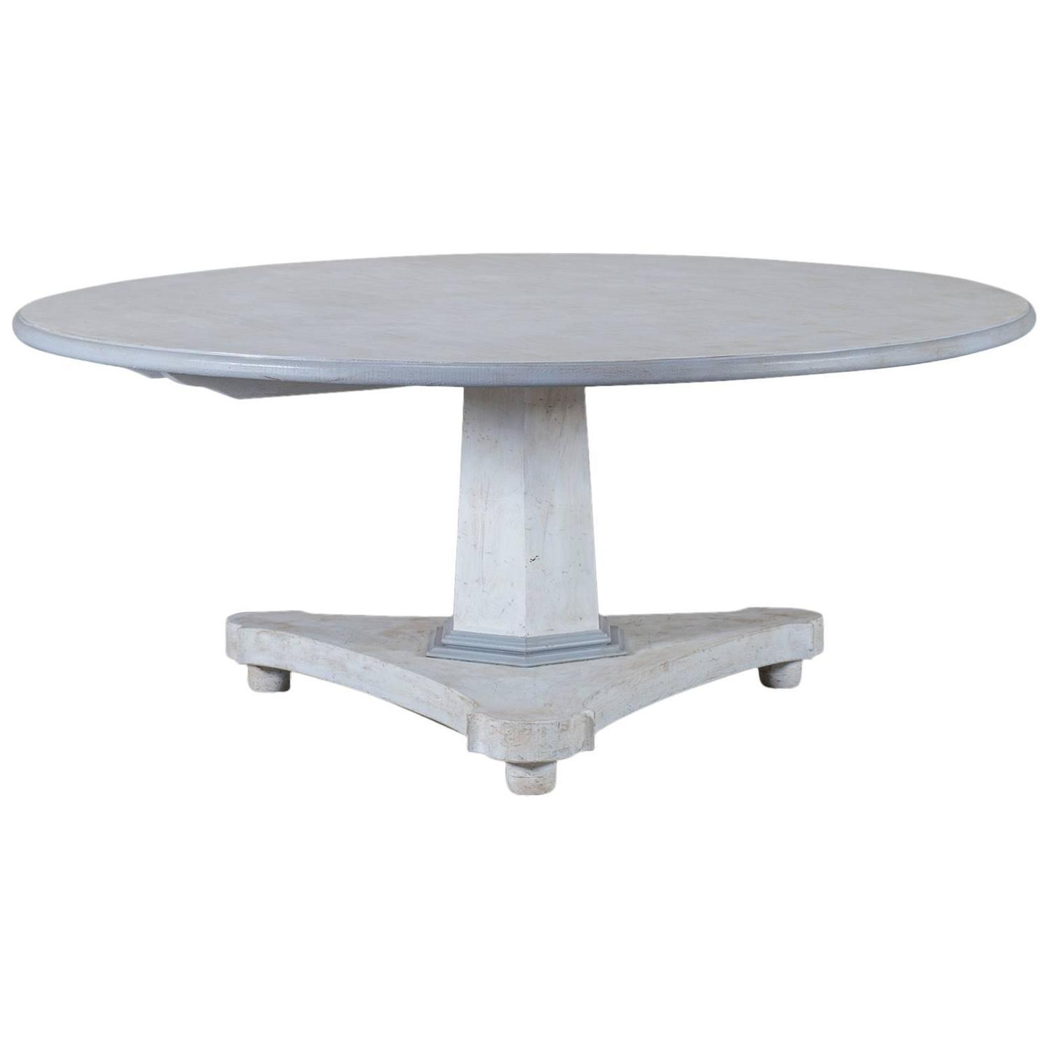 Round painted pedestal dining table from england at 1stdibs for Painted dining table