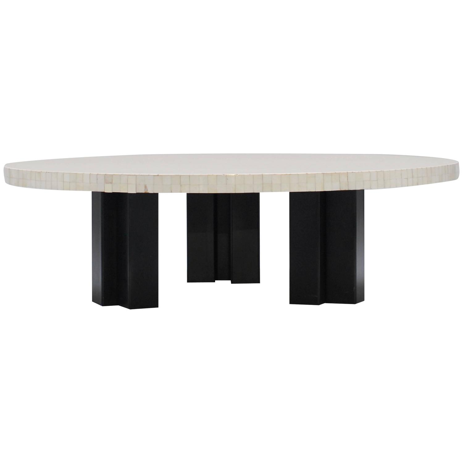 Large 1970s Bone Coffee Table By Etienne Allemeersch At 1stdibs