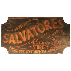 19th Century Clothing Advertising Wooden Sign