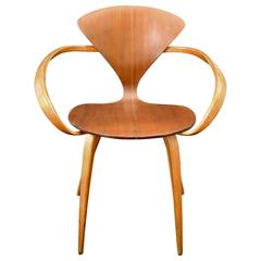 Midcentury Walnut and Beech Armchair by Cherner