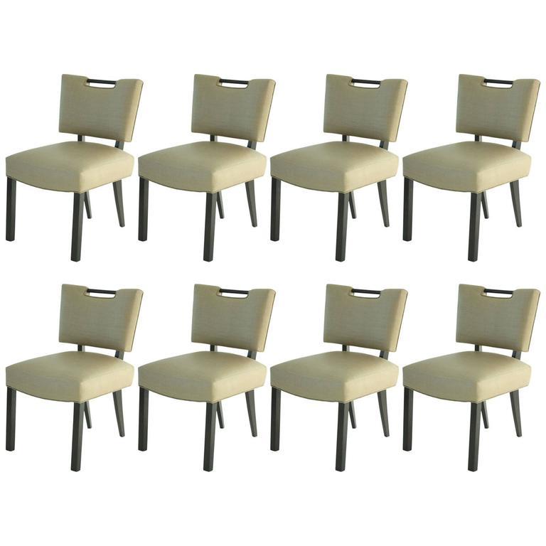 Modern Paul Laszlo Dining Chairs, Set of 8.   1