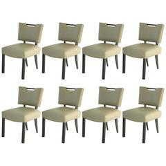Modern Paul Laszlo Dining Chairs, Set of 8.