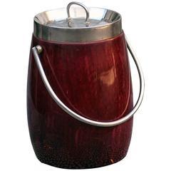 Roter Aldo Tura Champagnerkühler