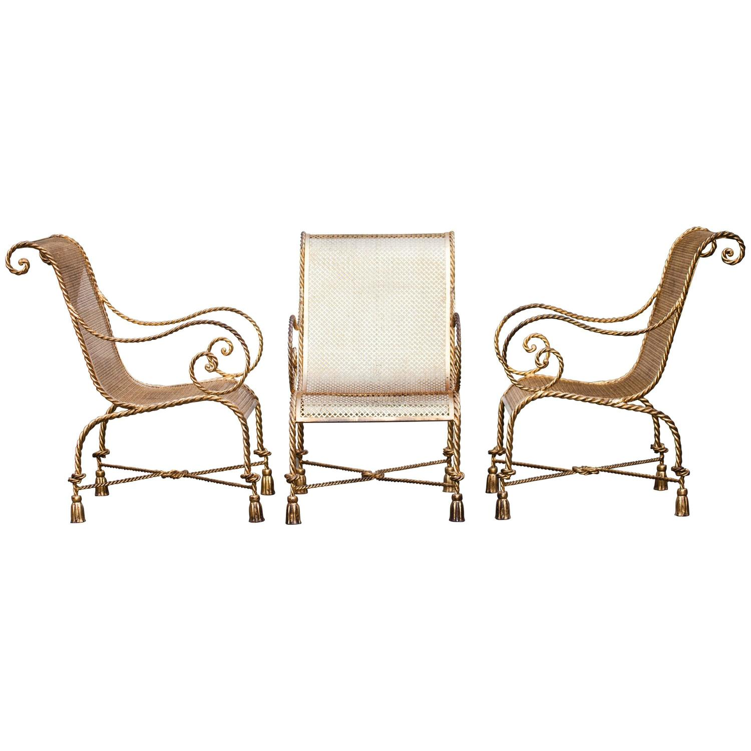 Hollywood Regency Glam X Base High Back Throne Chair For Sale at