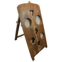 Folk Art Handmade Bag Toss Game Board