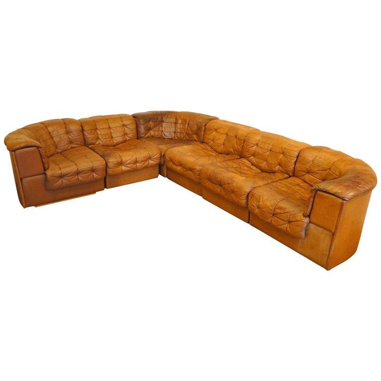 de sede leather patchwork chesterfield sofa at 1stdibs. Black Bedroom Furniture Sets. Home Design Ideas