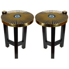 Fantastic Pair of Lighting Side Tables by Dessauvage