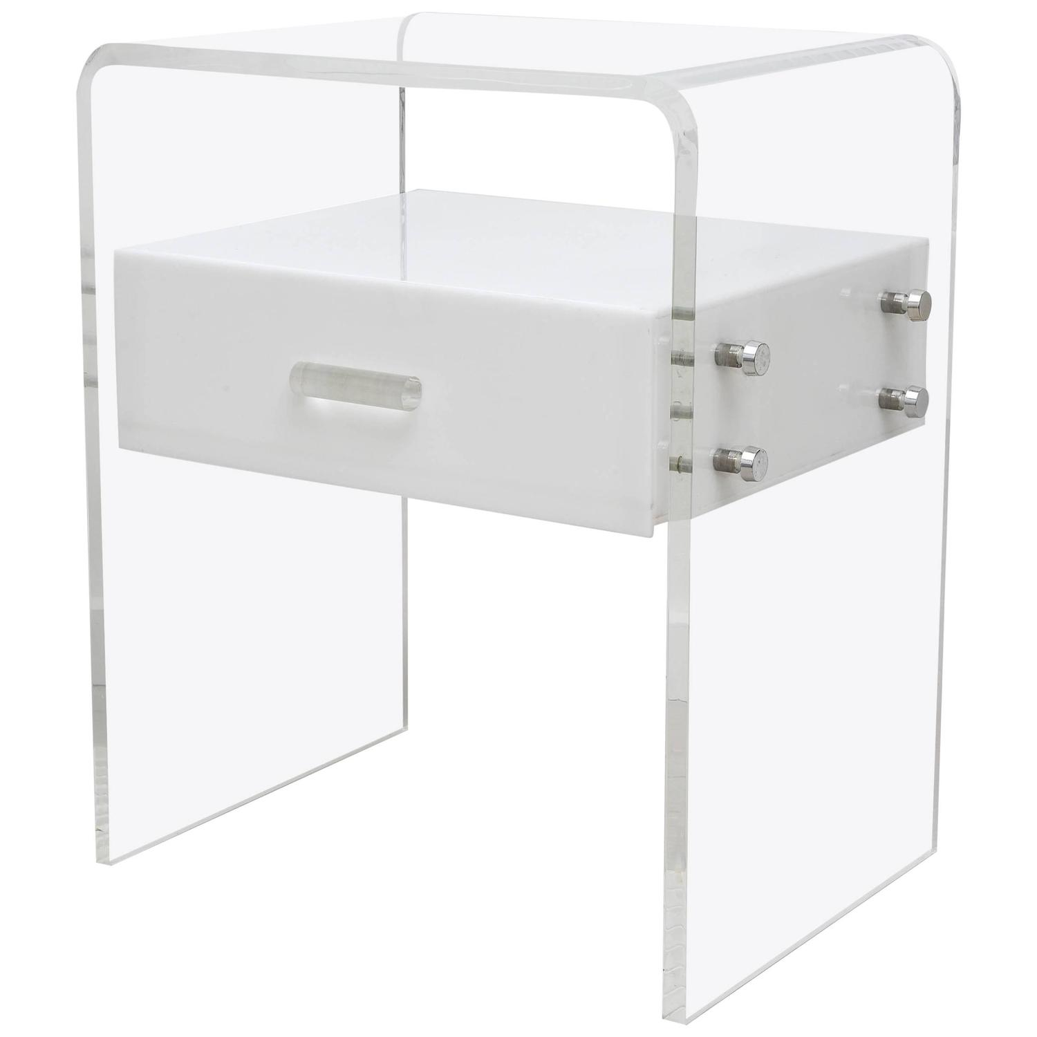 Vintage Acrylic Bedside Chest at 1stdibs