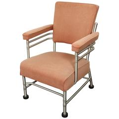 Warren McArthur Aluminum and Rubber Lounge Chair