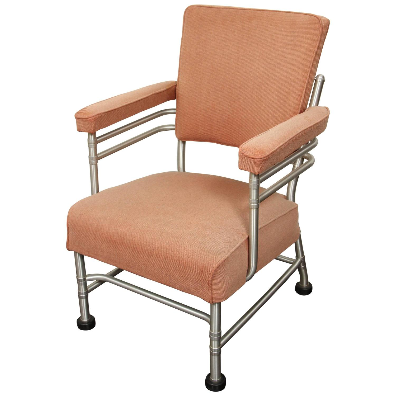 Warren McArthur Aluminum and Rubber Lounge Chair For Sale at 1stdibs