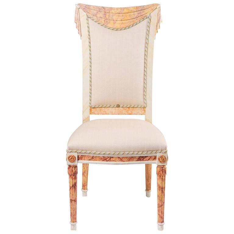 Hollywood Regency Style Draped Chair