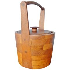 Danish Modern Teak Ice Bucket by Jens Quistgaard