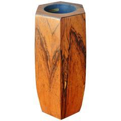 Danish Modern Rosewood Hexagonal Vase