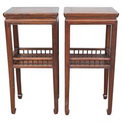 19th Century Pair of Qing Dynasty End Tables