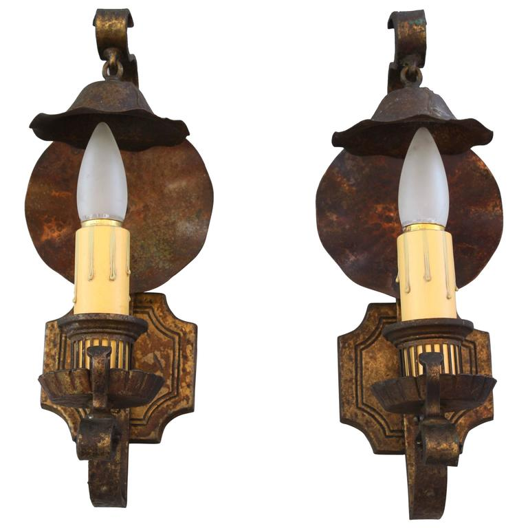 Pair of 1920s Sconces