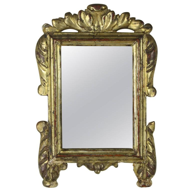 Antique italian baroque gilded mirror for sale at 1stdibs for Gilded baroque mirror