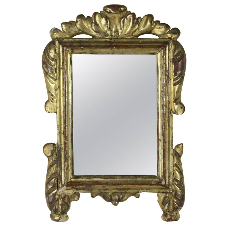 Antique Italian Baroque Gilded Mirror For Sale