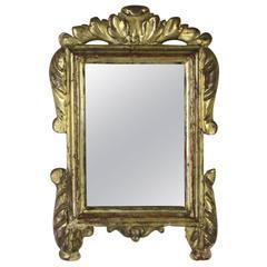 Antique Italian Baroque Gilded Mirror