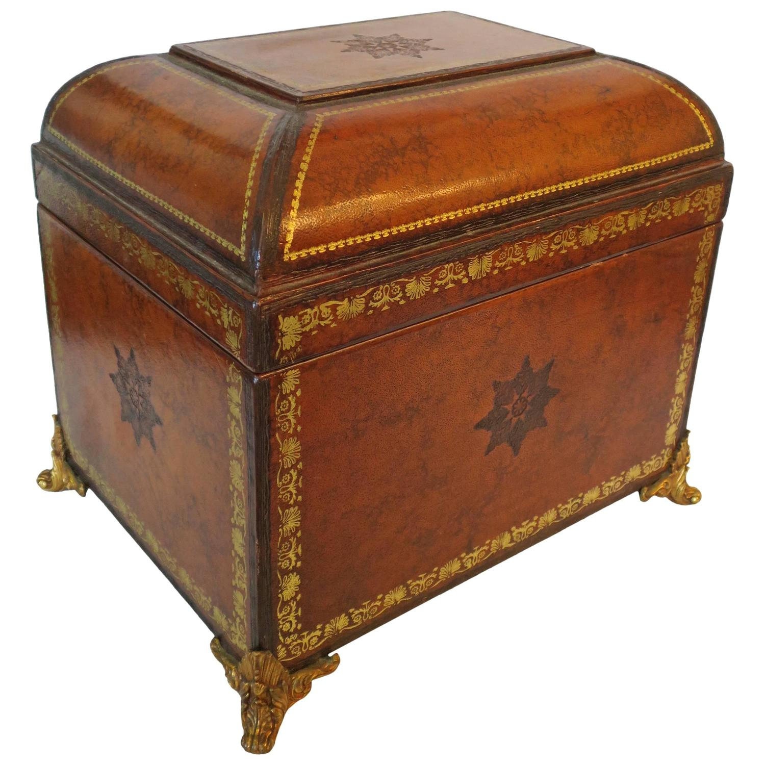 Maitland Smith Leather Wrapped Box At 1stdibs