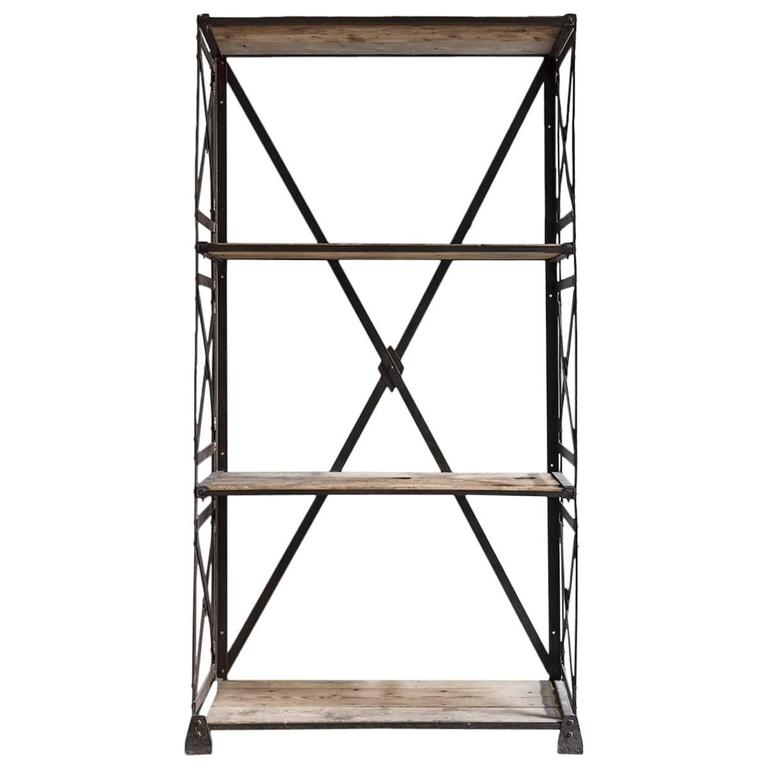 Industrial Bookcase For Sale