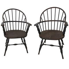 Pair of 1930s Iron Windsor Chairs