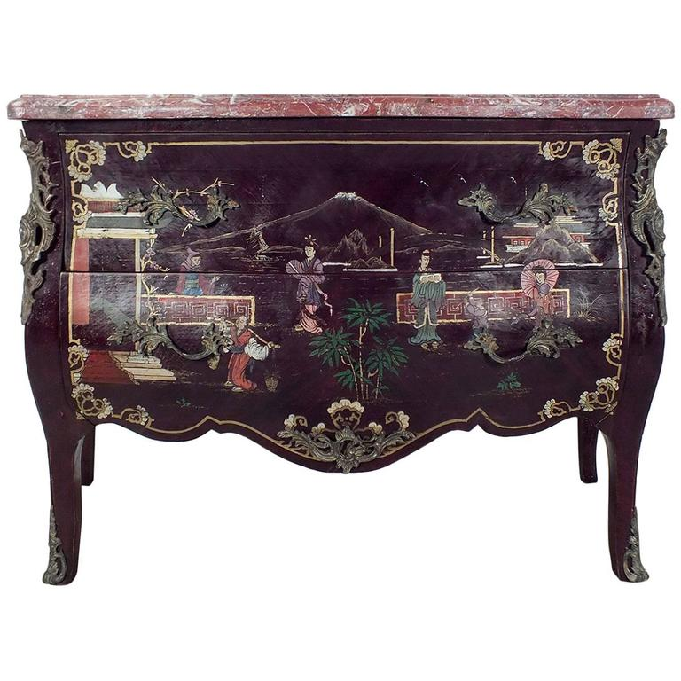 Early 1900s French Chinoiserie Style Commode At 1stdibs