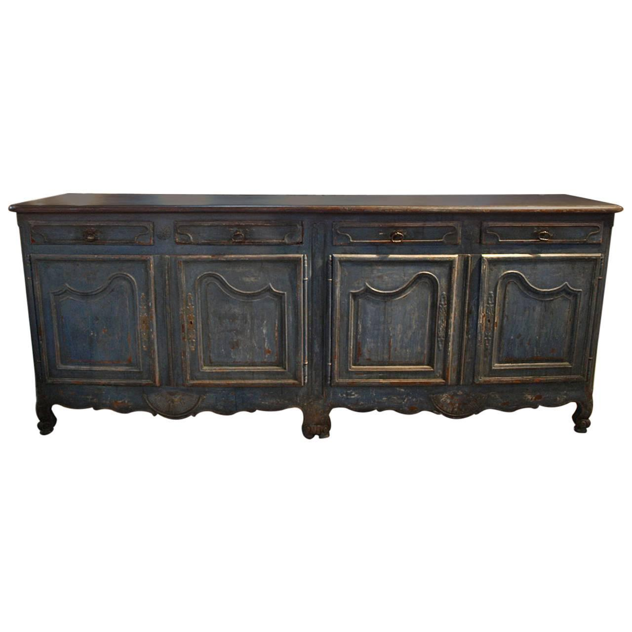 French 18th Century Enfilade Buffet In Painted Wood At 1stdibs. Full resolution‎  photograph, nominally Width 1280 Height 1280 pixels, photograph with #80694B.