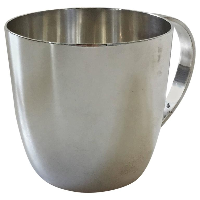 Georg Jensen Sterling Silver Cup with Handle For Sale