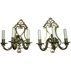 Antique Bronze Sconces