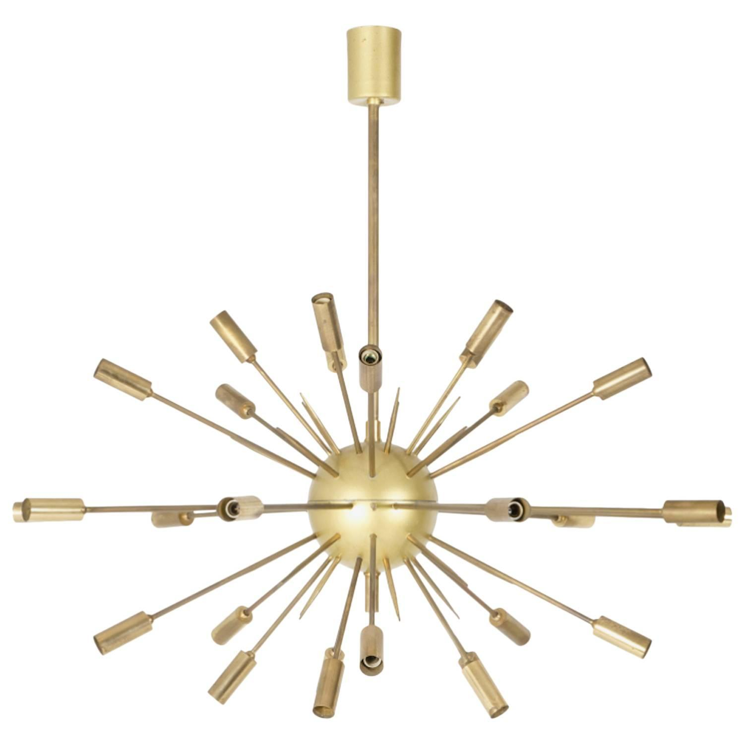 original stilnovo sputnik chandelier at 1stdibs. Black Bedroom Furniture Sets. Home Design Ideas