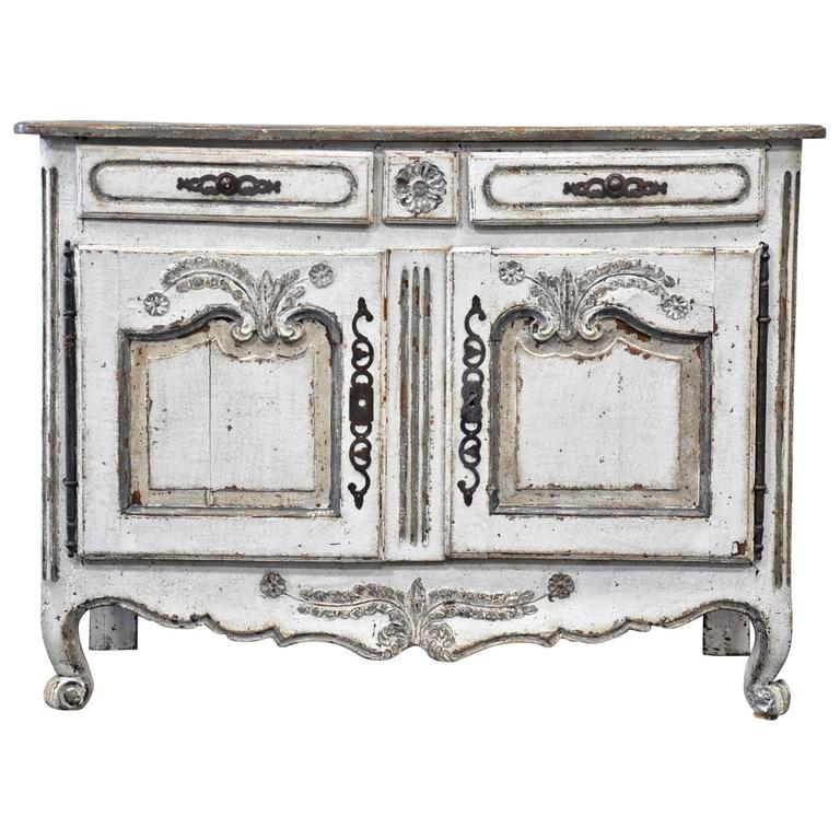 painted french provincial buffet bas for sale at 1stdibs. Black Bedroom Furniture Sets. Home Design Ideas