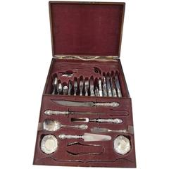 Lucerne by Wallace Sterling Silver Flatware Set of Service Fitted Box 205 Pieces