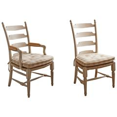 Genial Set Of 12 David Easton Ladder Back Dining Chairs