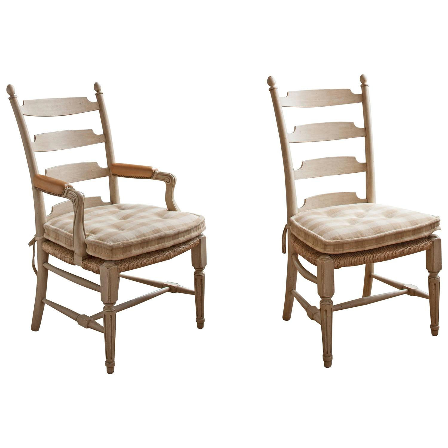 set of 12 david easton ladder back dining chairs for sale at 1stdibs