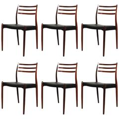 Niels Moller Rosewood 78 Dining Chair Set