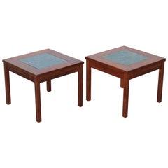 Pair of John Keal for Brown Saltman Constellation End Tables or Nightstands