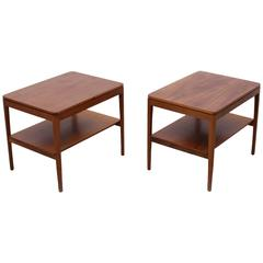 Pair of Kipp Stewart Night Stands or Side Tables in Walnut for Drexel