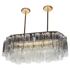 Mid-Century Modern Tronchi and Triedre Murano Chandelier by Camer