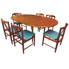 Folke Ohlsson for DUX Teak Table and Chairs Set