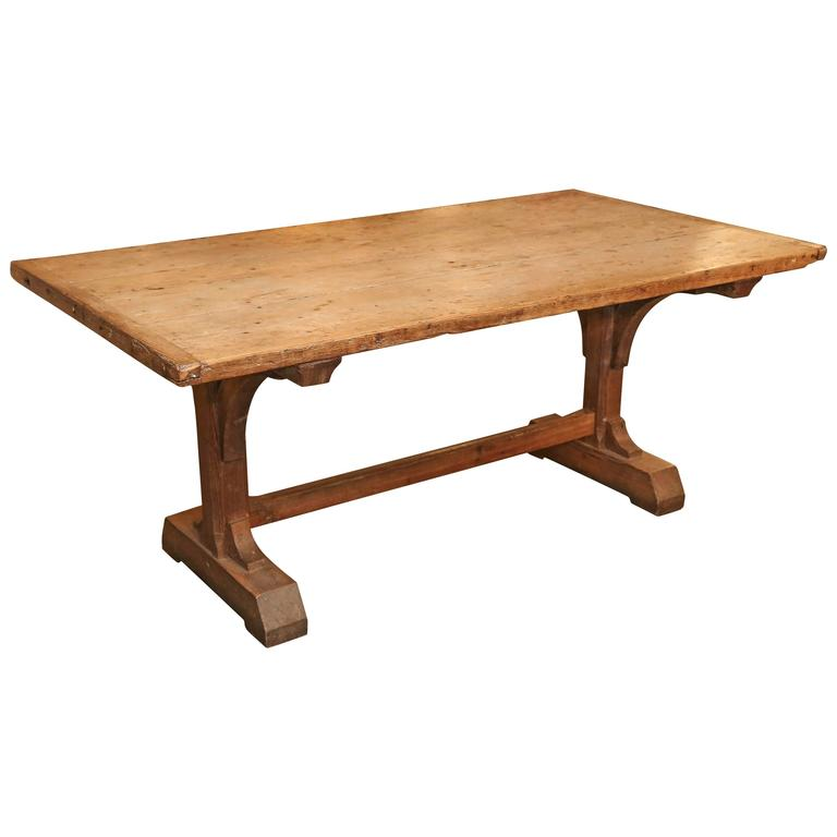 19th Century Trestle Table With Breadboard Ends At 1stdibs