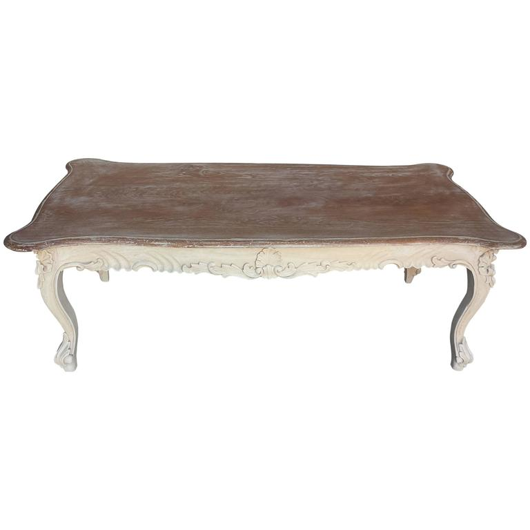 Coffee Table French Country Style Carved Coffee Table At 1stdibs