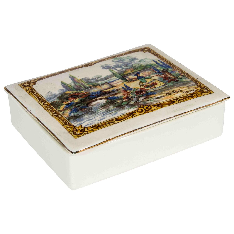 Vintage English Porcelain Box At 1stdibs