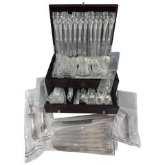 Grande Baroque by Wallace Sterling Silver Dinner Flatware for 18 Set 103 Pieces
