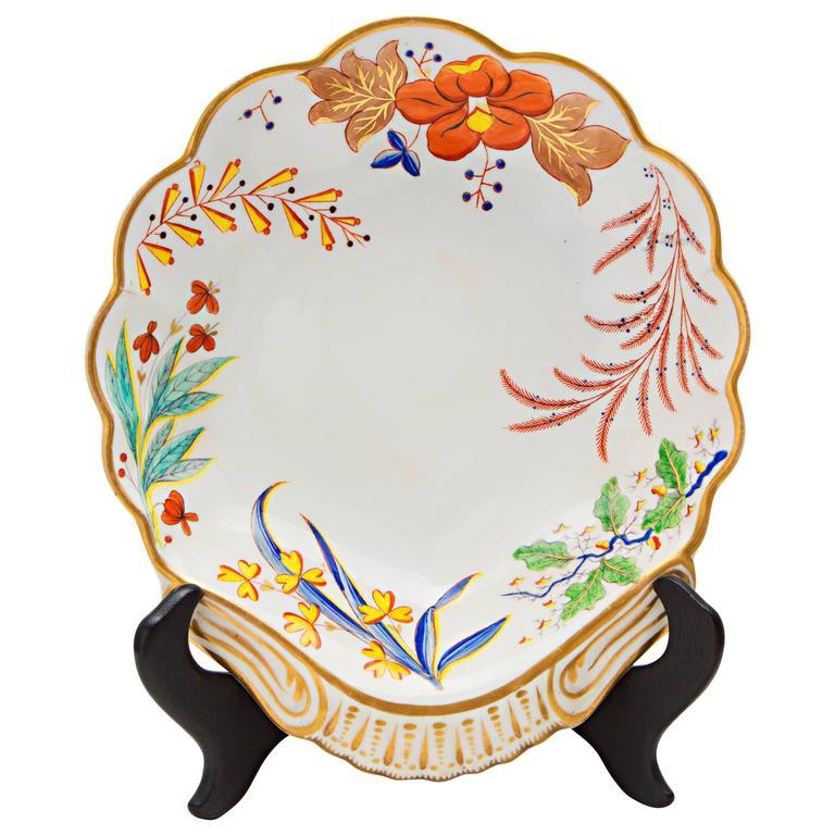19th Century Spode Porcelain Shell Dish