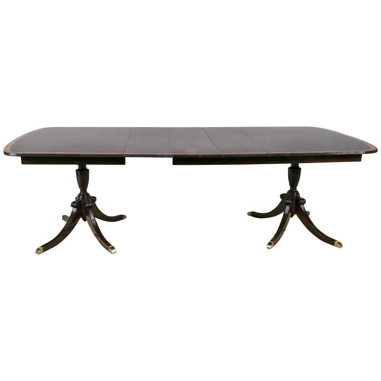 double pedestal dining table at 1stdibs
