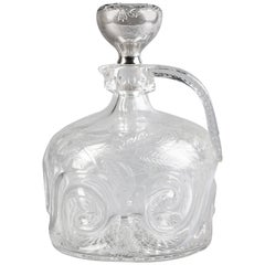 Gorham Silver and Crystal Decanter, circa 1910