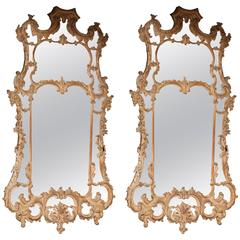 Pair of George II Rococo Mirrors