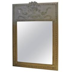 Louis XV Style Trumeau Mirror by Milch & Sons